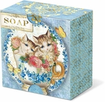 Teacup Kittens Verbena Pleat-Wrapped Soap