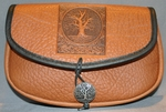 Tree of Life Leather Belt Pouch (Wide)