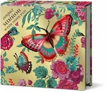 Tropical Butterfly Compact Mirror with Note Pad