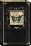 Turquoise Butterfly Large Bungee Journal