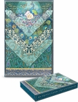 Turquoise Peacock Boxed Stationary Set