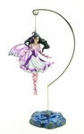Violet Melody Fairy Ornament