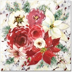Winter Roses Beverage Napkins