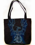 Winter Spirit Dragon Tote Bag