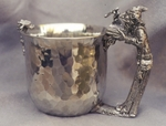 Wizard Hammered Pewter Cup
