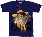 Wizard in Purple Hat Kid's T-shirt