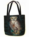 Wizard Messenger Owl Tote Bag