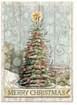 Woodgrain Tree Christmas Cards