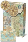 World Atlas Decorative Pouch Note Cards