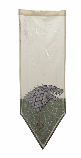 Worn Stark Tournament Banner - Game of Thrones