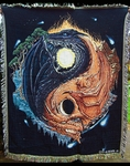 Yin Yang Dragon Tapestry Throw Blanket