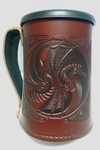 Yin Yang Dragons Leather Mug