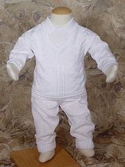 100% Cotton Knit Two Piece Boys Christening