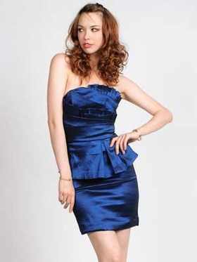 2 PCS Stretch Taffeta Short Homecoming Dress