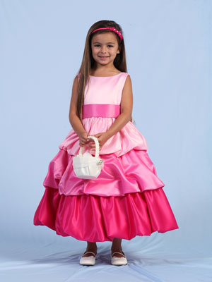3-Shaded Tiered Bubble Girl Dress