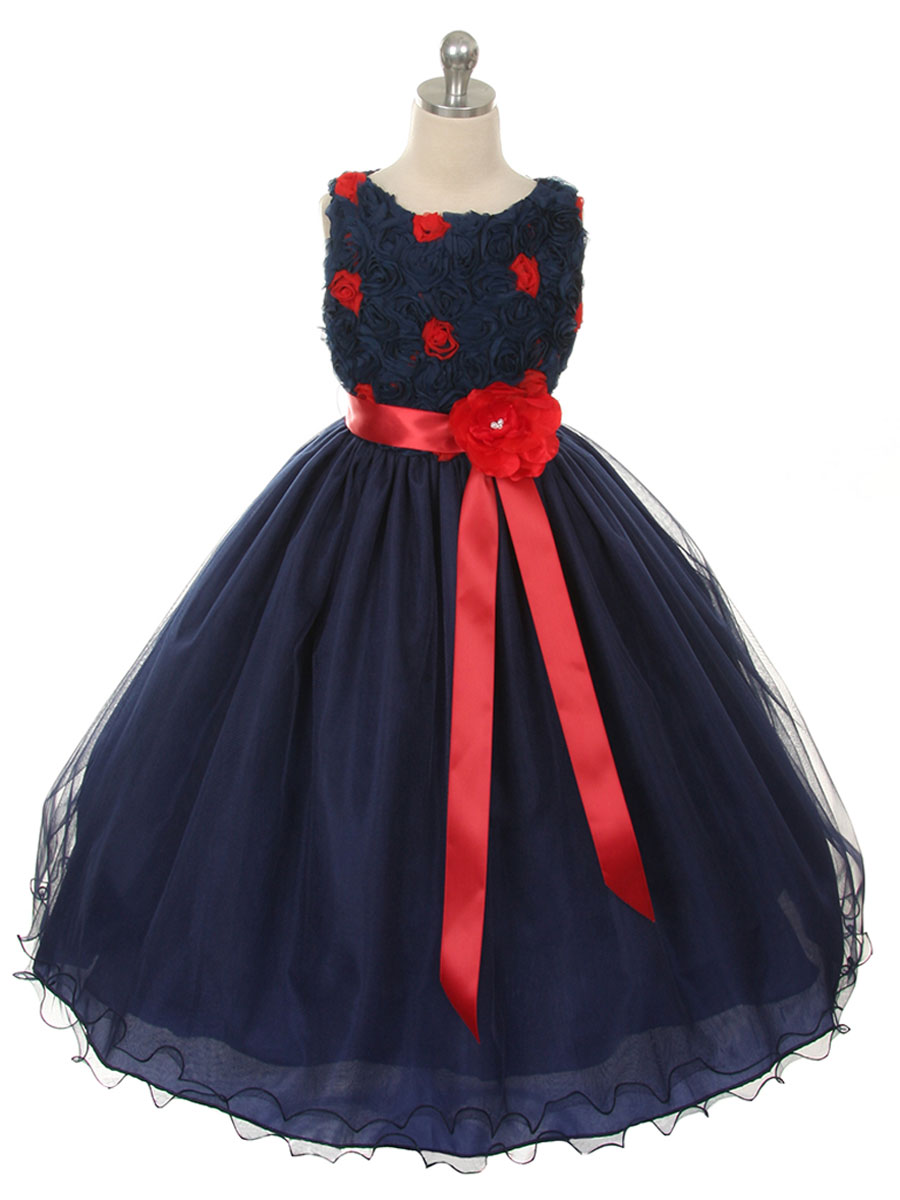 Top with tulle skirt holiday dress girls holiday amp christmas dresses