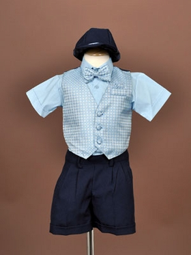 5-Piece Short Pants Boy Vest Set