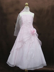 A-line organza junior bridesmaid dress