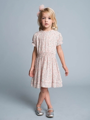 Romantic Floral Printed Kid's Dress