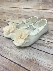 Ballet Flats with Chiffon Flower