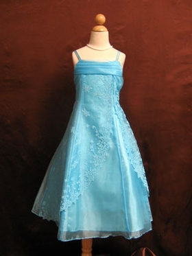 Beaded Organza Flower Girl Dress