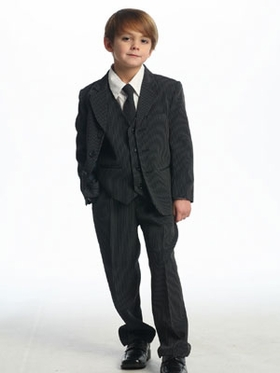 Black Stripes  Single Breasted  Boy's Suit