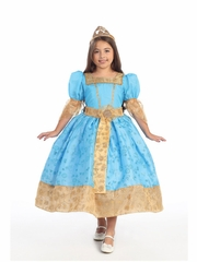 Blue and Gold Princess Inspired Dress