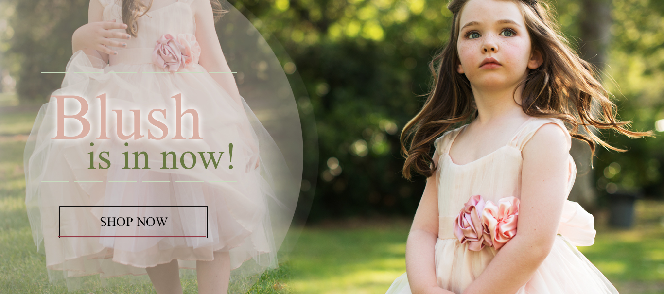 Blush flower girl dresses at MyGirlDress.com