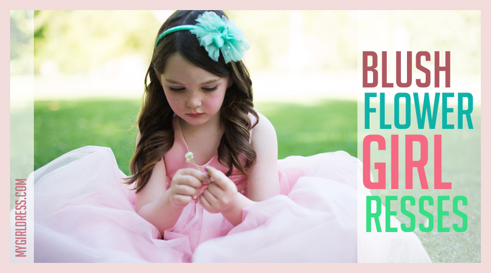 blush flower girl dress from mygrldress