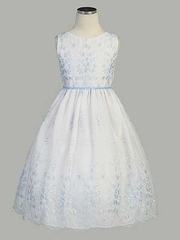Bouquet Embroidered Organza Dress