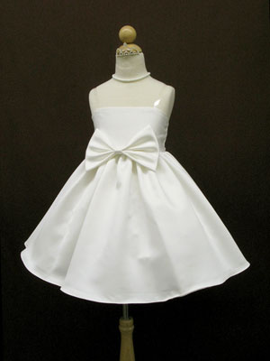 Bow Accented  Flowergirl Dress