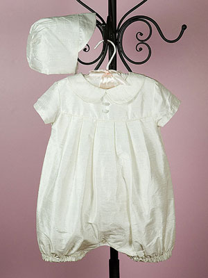 Boy Silk Christening Gown