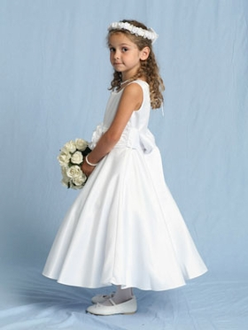 Bridal Satin Communion Dress