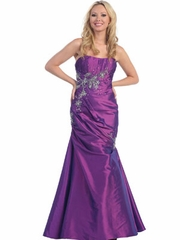 Bridal Satin Mermaid Long Prom Dress