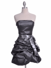 Bubble Hem Party Dress with Accented Bow