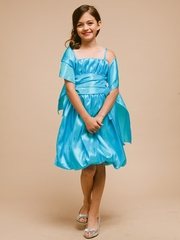 Bubble Short Flower Girl Dress