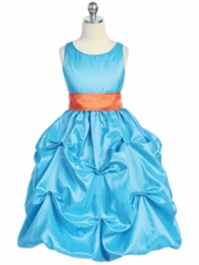 Bubble Tafetta Flower girl Dress