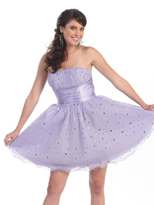 Bustier Top with Sequins Short Prom Dress