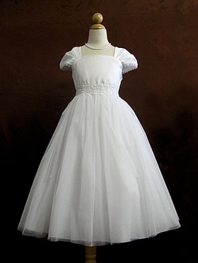 Cap Sleeves First Communion Dress