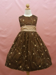 Champagne / Brown Flower Girl Dresses