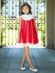 Red Summer Chiffon Dress for Girl