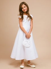 Classic A-line Satin Communion Dress