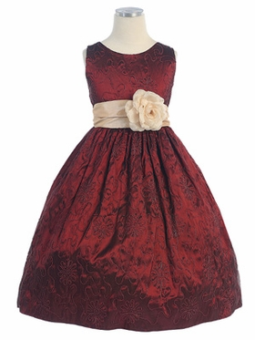Cord Embroidered Taffeta Dress