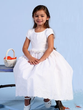 Cotton Short Sleeves Communion Dress