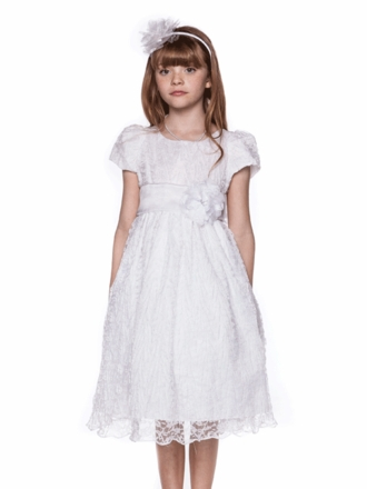Crinkle Lace First Communion Dress