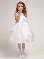 Cristal Organza Overlay Flower Girl Dress