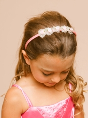 Cute Silk Flower Organza Headband