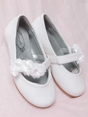 Cute White Flower Girl  Shoes