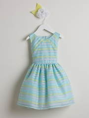 Directional Stripe Organza Dress