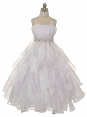 Elegant  A-line Organza Communion Dress